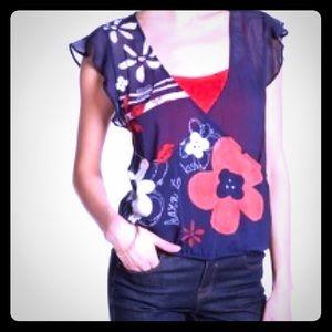 Desigual 2-layer blouse
